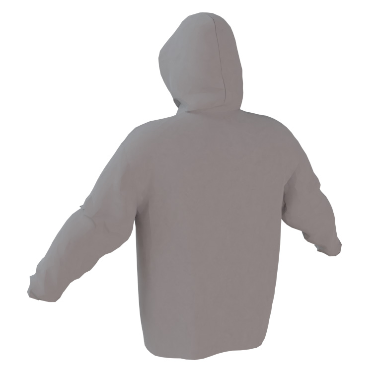 4 The Fallen - Gray Performance Hoodie - back