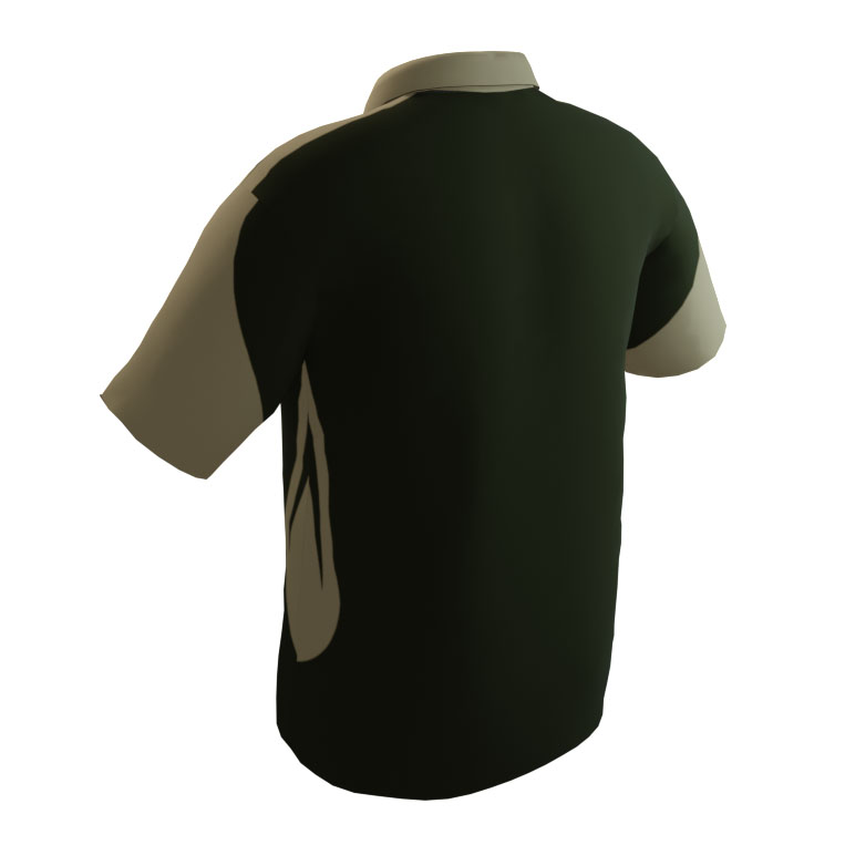 4 The Fallen - Military Green and Tan Short Sleeve Polo - back
