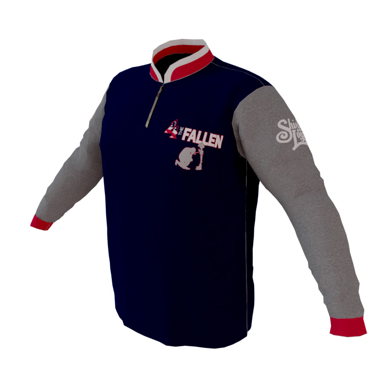4-The-Fallen-Navy-Long-Sleeve-Quarter-Zip-Pullover