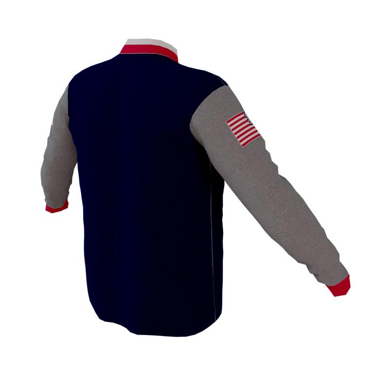 4-The-Fallen-Navy-Long-Sleeve-Quarter-Zip-Pull-Over-back