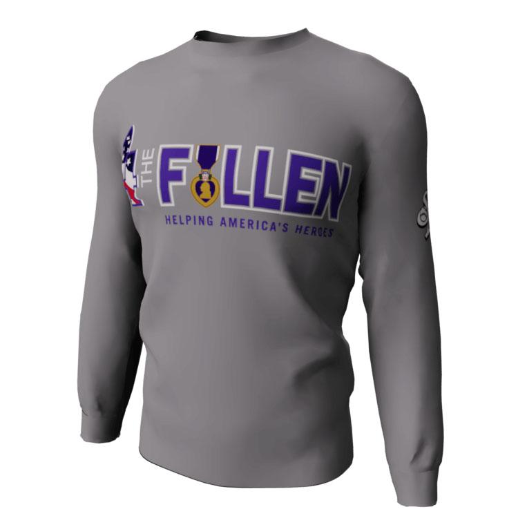 4 The Fallen - Purple Heart - Custom Long Sleeve Shirt