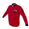 4 The Fallen - Red Long Sleeve Quarter Zip Pullover