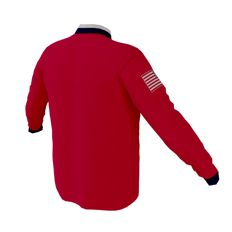 4 The Fallen - Red Long Sleeve Quarter Zip Pullover - back