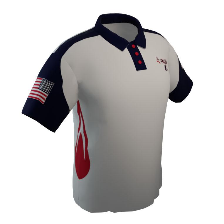 4 The Fallen White Polo Shirt
