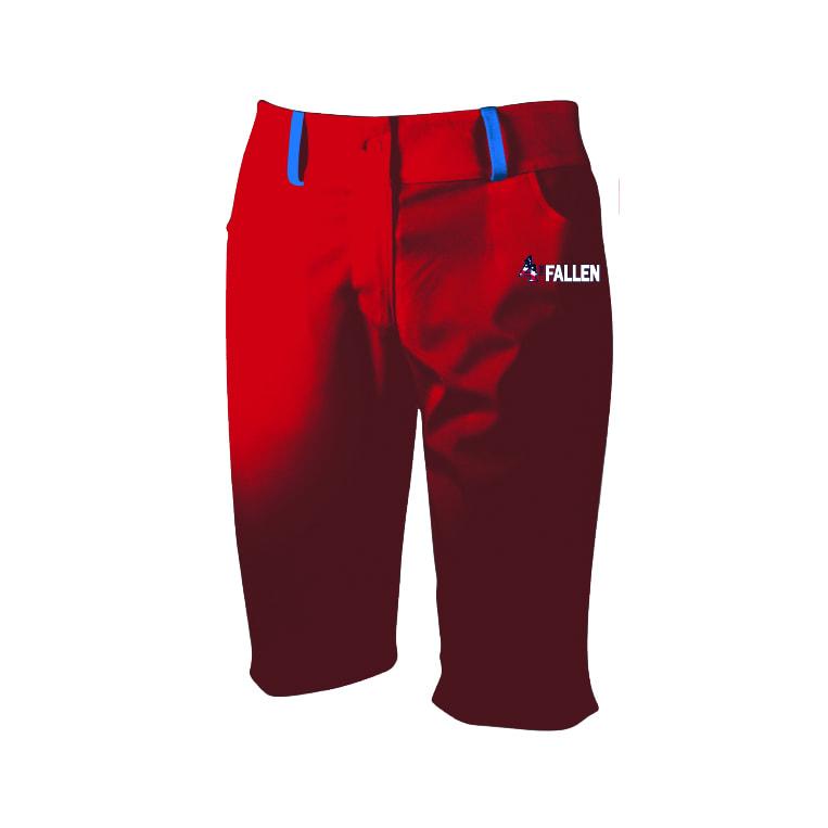 4 The Fallen - Women's Red Bermuda Shorts - ShirtsandLogos