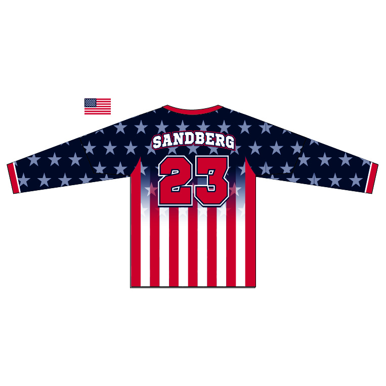 Bombers of the Ozarks - Long Sleeve Crew Neck Jersey - back