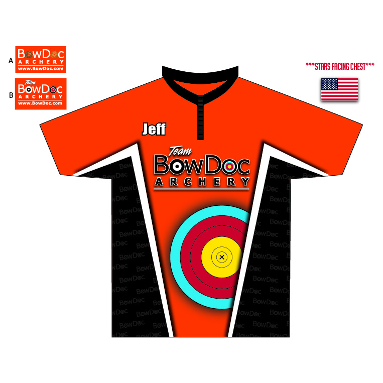 BowDoc Archery - Custom Orange Archery Shirt