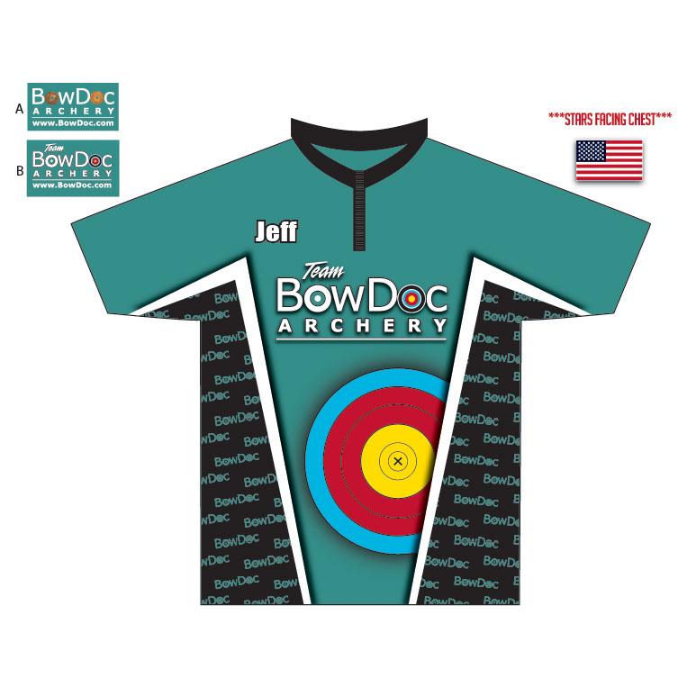 BowDoc Archery - Teal Custom Archery Shirt