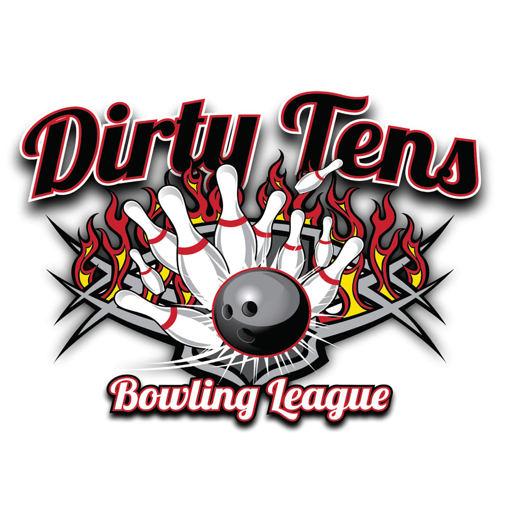 Dirty Tens Bowling League Logo