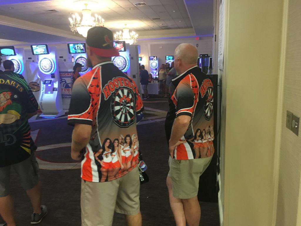 Hooters Dart Team Game Shirts