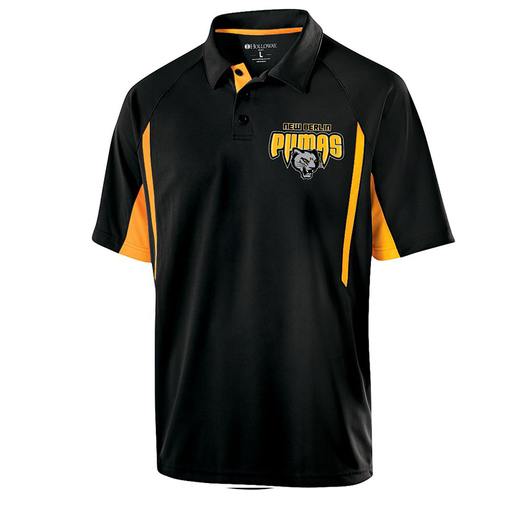 New Berlin Pumas - Black and Gold Embroidered Polo Shirt
