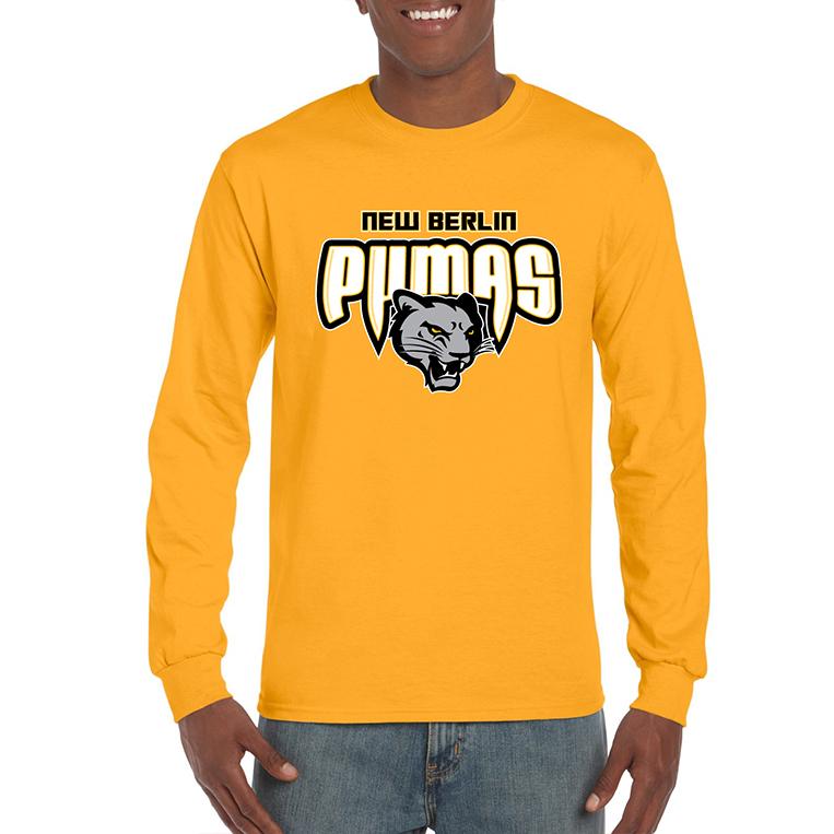 New Berlin Pumas - Long Sleeve Screen Printed Shirt
