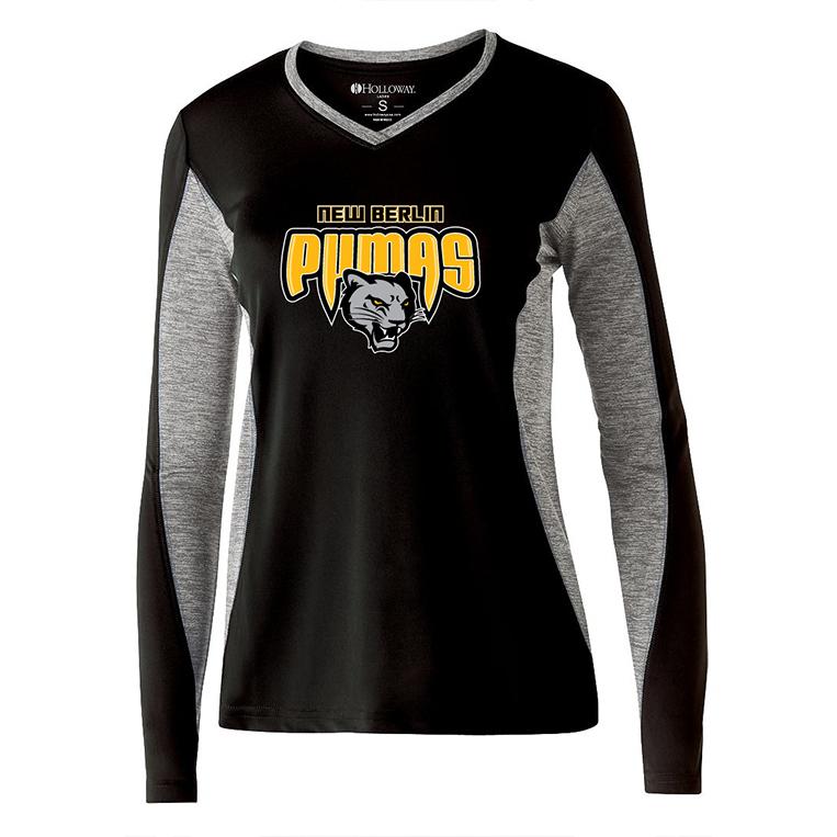 New Berlin Pumas - Women's Halloway Screen Printed Long Sleeve Shirt