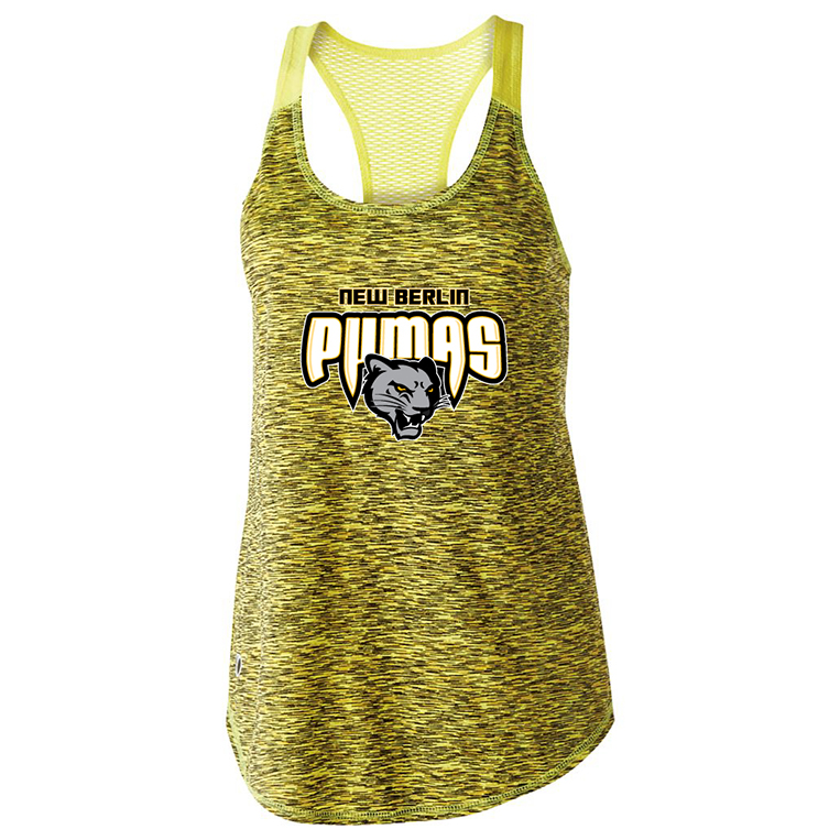 New Berlin Pumas - Womens Holloway Athletic Tank-top - Gold
