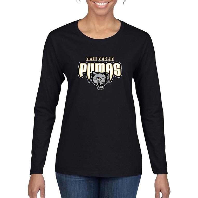 New Berlin Pumas - Womens Long Sleeve Screen Printed Shirt