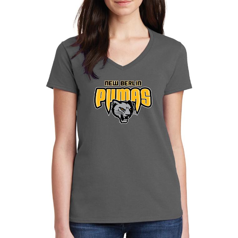 New Berlin Pumas - Womens Short Sleeve Screen Printed T-Shirt