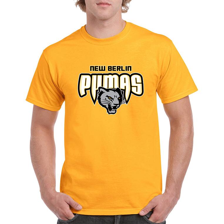 New Berlin Pumas - Yellow Short Sleeve Shirt