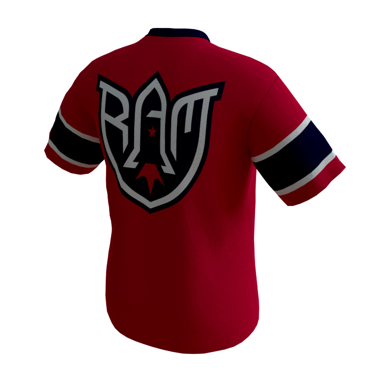 Rocket Arm Mike – Red Game Shirt - back