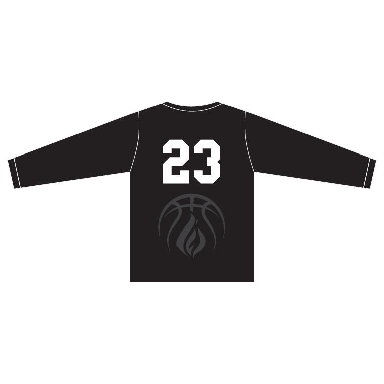 Wisconsin Fuel - Black Long Sleeve Shirt - back