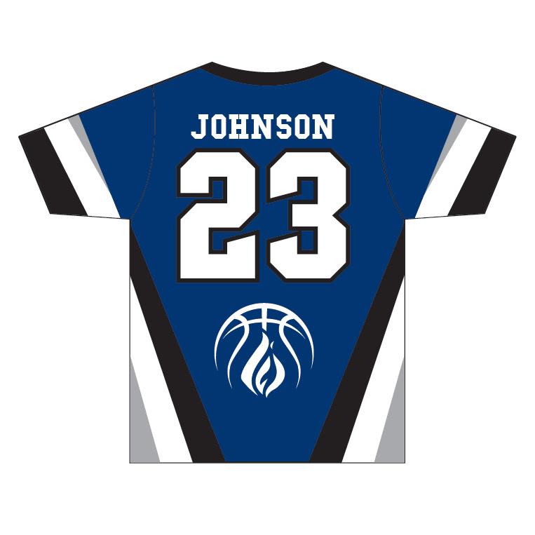 Wisconsin Fuel - Custom Blue Game Shirt - back