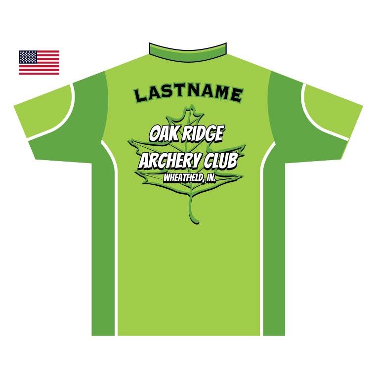 oak ridge archery - custom archery shirt back